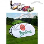 Kidney shaped Oval Pop Up Banners