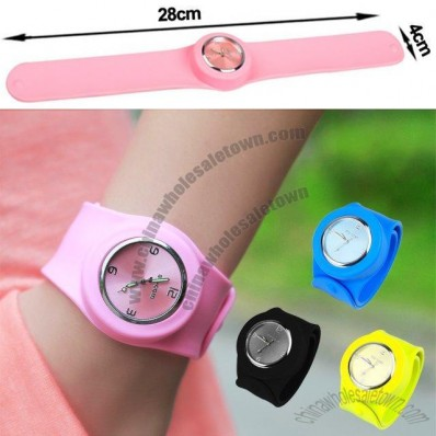 Kids Coloured Snap Slap Watch
