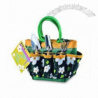 Gardening Tools For Children. Kids Garden Tools Carry Bag