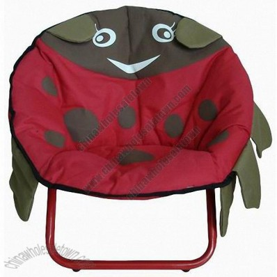 Kids Moon Chair in Ladybug Pattern