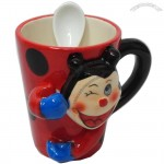 Kids Mug with Spoon Joker Print