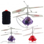 Kids Radio Control 2CH up/down RC Mini UFO Helicopter Infrared LED Flying Saucer Red Purple