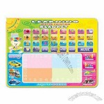 Kids educational Toy Magic Musical Water Painting Mat, Non-toxic