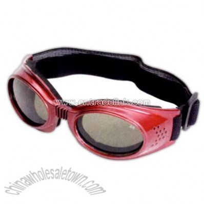 Kid's rubberized goggles with red frames
