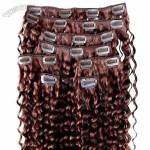 Kinky Curl Human Remy Hair Clip In Hair Extension