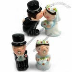 Kissing Bride and Groom - Salt & Pepper Shakers