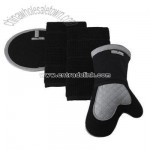 Kitchen Towel and Pot Holder Black 4-pc. Set