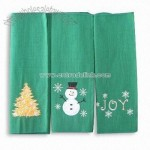 Kitchen Towel with Christmas Embroidered Design
