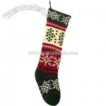 Knit Snowflake Stocking