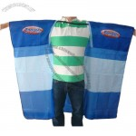 Knitted Polyester Printed Body Cape Poncho Flag