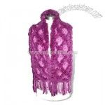Knitted Women Winter Fur Scarf