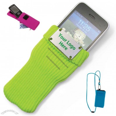 Knitted fabric Mobile Phone Bag