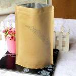 Kraft paper valve bag, lined with aluminum foil material, compound bag food grade