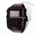 LCD Calculator Watch with Alarm Function