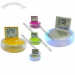 LCD Calendar Clock with Clip Holder