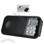 LCD Clock Speaker With MP3 Player Radio and Lanyard