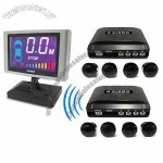 LCD Display, 8 Sensors (4 Wire Front/4 Wireless Rear, Black ) Car Backup System