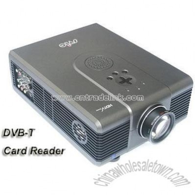 LCD Multimedia Projector TV with DVB-T & Card reader