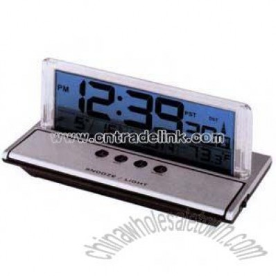 LCD atomic desk clock with alarm