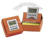 LCD clock with memo pad