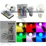 LED 16 Color Changing Light Bulb with Remote Styles