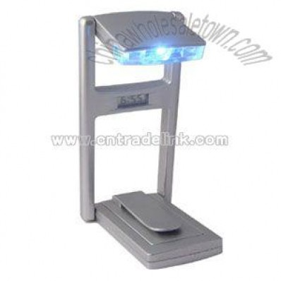 LED Book light with digital clock