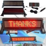 LED Car Display, English Remote Control  Auto Programmable Message Sign Pixel 8*48 RED