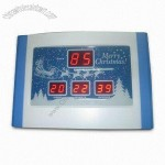 LED Clock in Merry Christmas Design