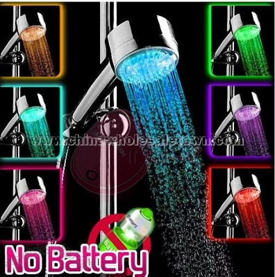 LED Color Control Shower Head