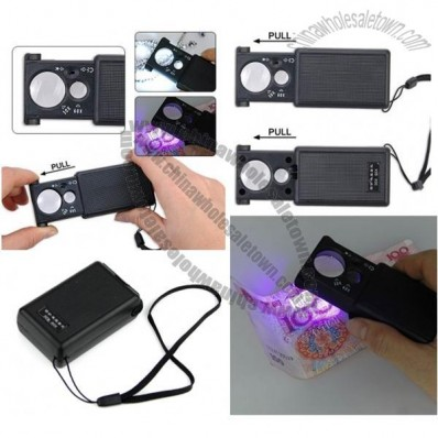 LED Currency Detecting Jewellery Identifying Magnifier