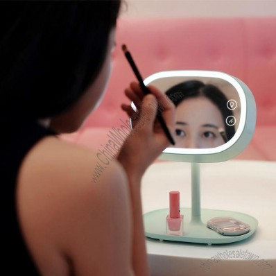 LED Desktop Makeup Mirror - Table Lamp