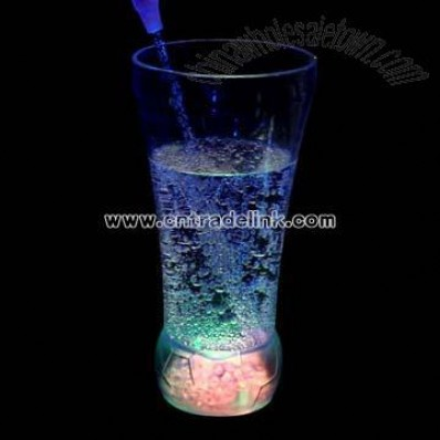 LED Flashing Football Glass