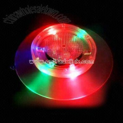 LED Flashing Light Coaster with On and Off Buttons