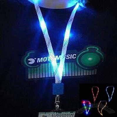 LED Flashing Lights Lanyards with Clip