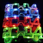 LED Flashing Sunglasses with Optional Color to Choose, 2014 New Year Decoration