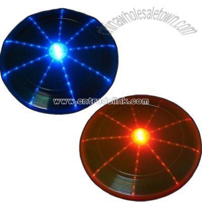 LED Frisbee with Fiber Optic