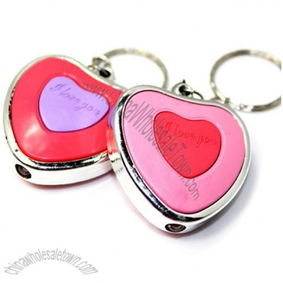 LED Glow Heart Key Ring Light