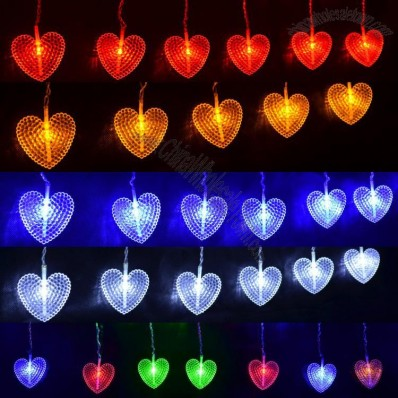 LED Heart-shaped Decorative String Lights