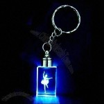 LED Keychain with Crystal Accessory