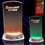 LED Light Clear Transparent Table Tent Menu Card Holder