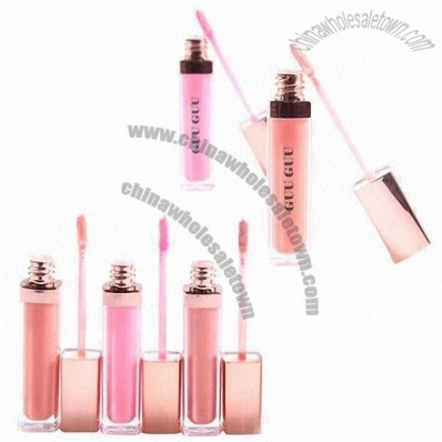 LED Light Colorful Lip Gloss with Mirror in Stylish Color, Moisturize Lips Intensively