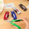 LED Light Mini Folding Ballpoint Pen With Scissors