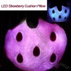LED Light Strawberry Cushion Pillow