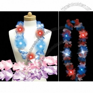 LED Light Up Hawaiian Flower Lei