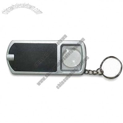 LED Light and Magnifier with Keychain