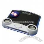 LED Light and Speaker with Mic USB Mousepad