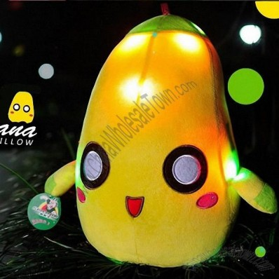 LED Lighted Glow Pillow-Banana