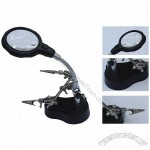 LED Magnifier Desk Lamp with Clamps