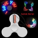 LED Message Hand Fingertip Spinner