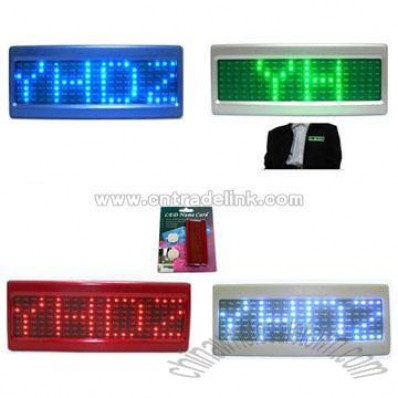 LED Name Badge / LED Name Cards
